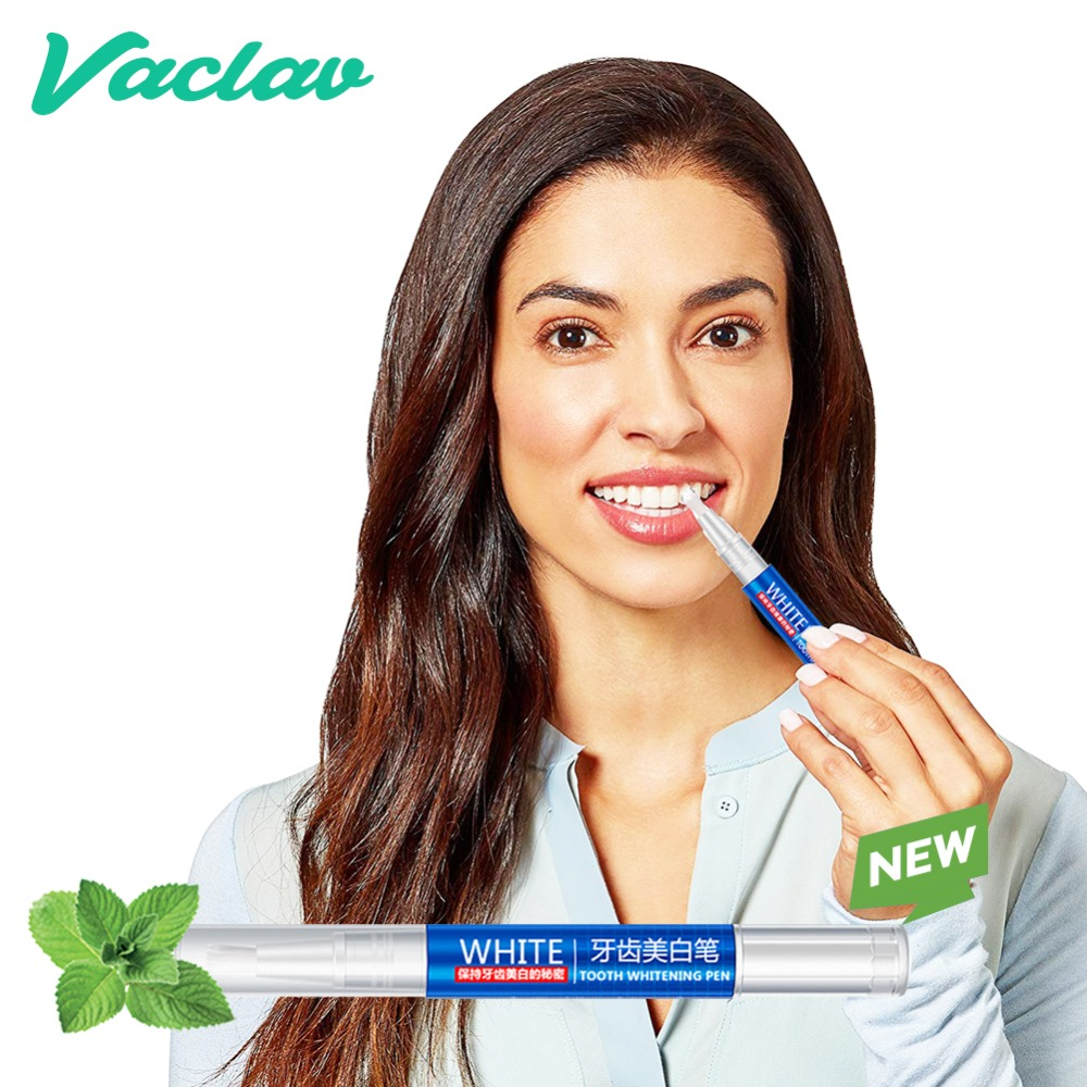 Vaclav 1Pcs Teeth Whitening Pen Tooth Whitening Gel Tooth Bleach Gel Whitener Remove Stains Oral Hygene