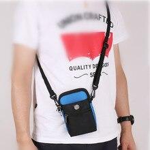Nylon Crossbody Bag Purse Cell Phone Wallet Case Casual Handbag Water Resistant with detachable strap for Men Women Waist Belt