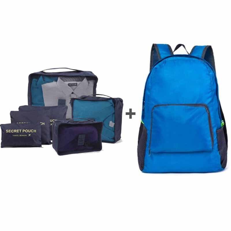 IUX Large Capacity Of backpack Unisex Clothing Sorting Organize Bag Luggage Travel Bags Packing Organizer Nylon Folding Bags