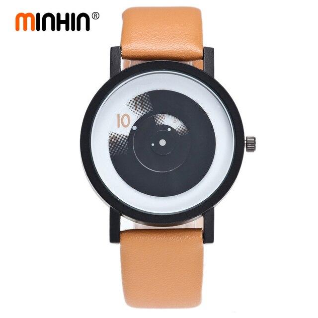MINHIN Students Creative Watches Lover's Couple Quartz Wristwatches Gift Stylish No Needle Fashion Design Women Sports Watches