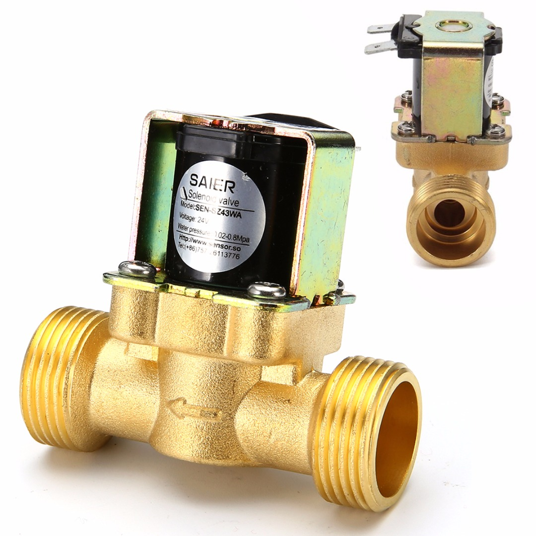 1pc Brass Electric Solenoid Valve 24V 3/4 2-Way Normally Closed Pressure Regulating Valves For Oil Water Steam Machines Mayitr
