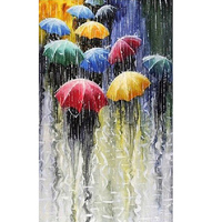 Diamond Painting Embroidery Kit Pictures Of Rhinestones New Needlework Home Decoration Paint Rain And Umbrella