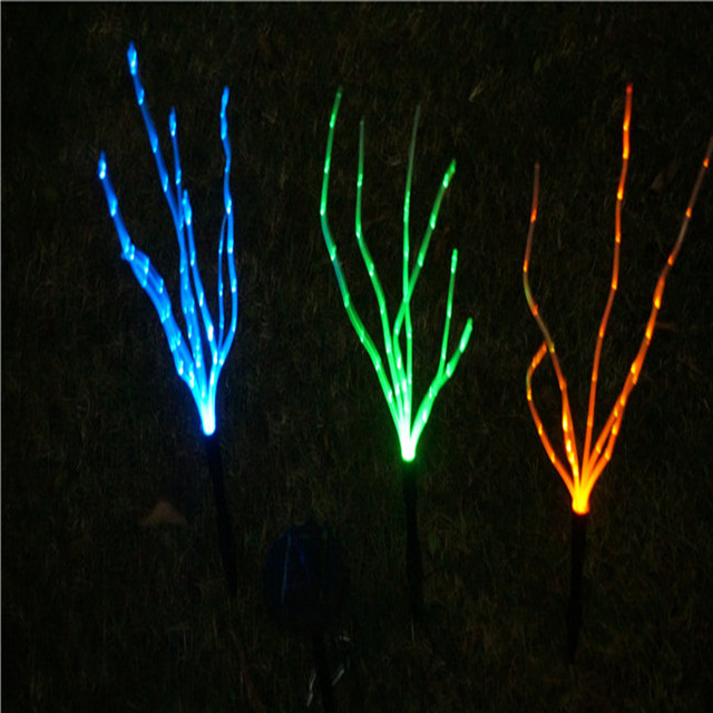 3 Colorful High Brightness Solar LED Fiber Optic Grass Path Light Outdoor Garden Lawn Landscape Spot & 3 Colorful High Brightness Solar LED Fiber Optic Grass Path Light ...