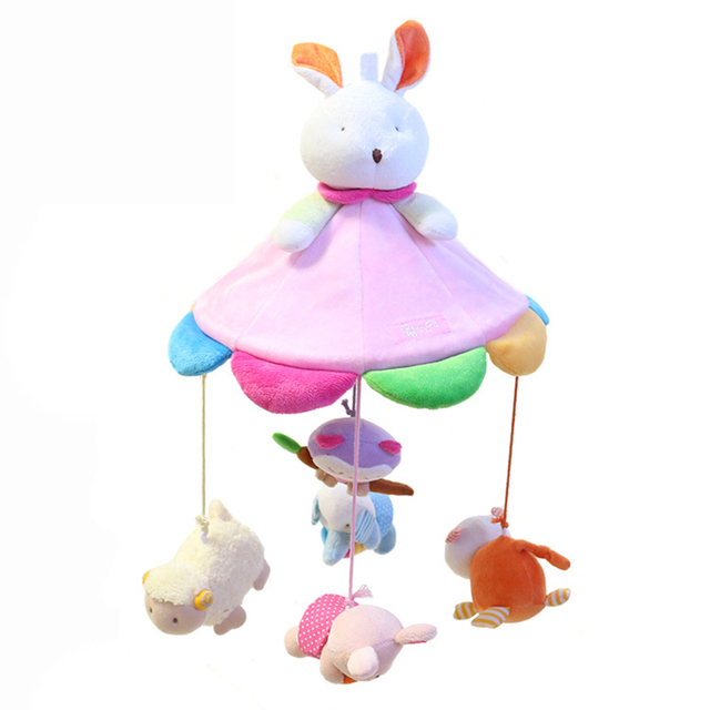 2017 New Arrival Hot Sale Brinquedos Baby Bed Around Crib Bell Hanging Toys Plush Rabbit Soft Sleeping Infant Gift Babyshining