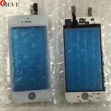Дигитайзер сенсорного экрана с рамкой для iPhone 6 6S 6P 5S 5C 5G 7G 7P Plus, сенсорная передняя панель, стеклянные линзы, аксессуары для телефона