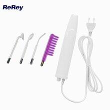 Baguette violette Portable haute fréquence électrothérapie Machine faciale tache acné dissolvant visage peau rides cuir chevelu masseur électrode