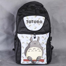 Anime My Neighbor Totoro Laptop Black Backpack Double Shoulder School Travel Bag for Teenagers or Animation