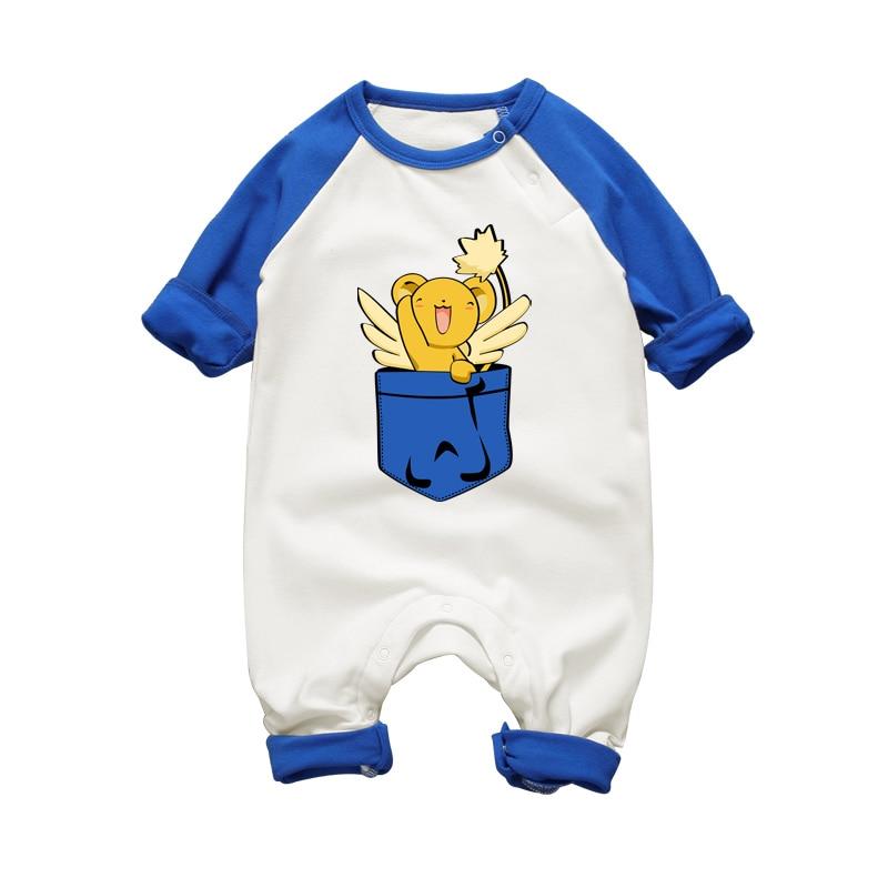Anime Kero 아기 소년 Rompers 신생아 옷 긴 소매 제복 가을 겨울 코튼 아기 소녀 Romper 의류 점프 슈트