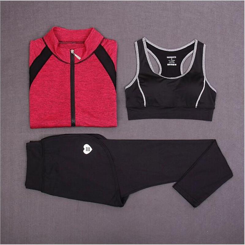Նոր 3 կտոր կոստյում կին յոգայի ֆիթնես - Սպորտային հագուստ և աքսեսուարներ - Լուսանկար 6