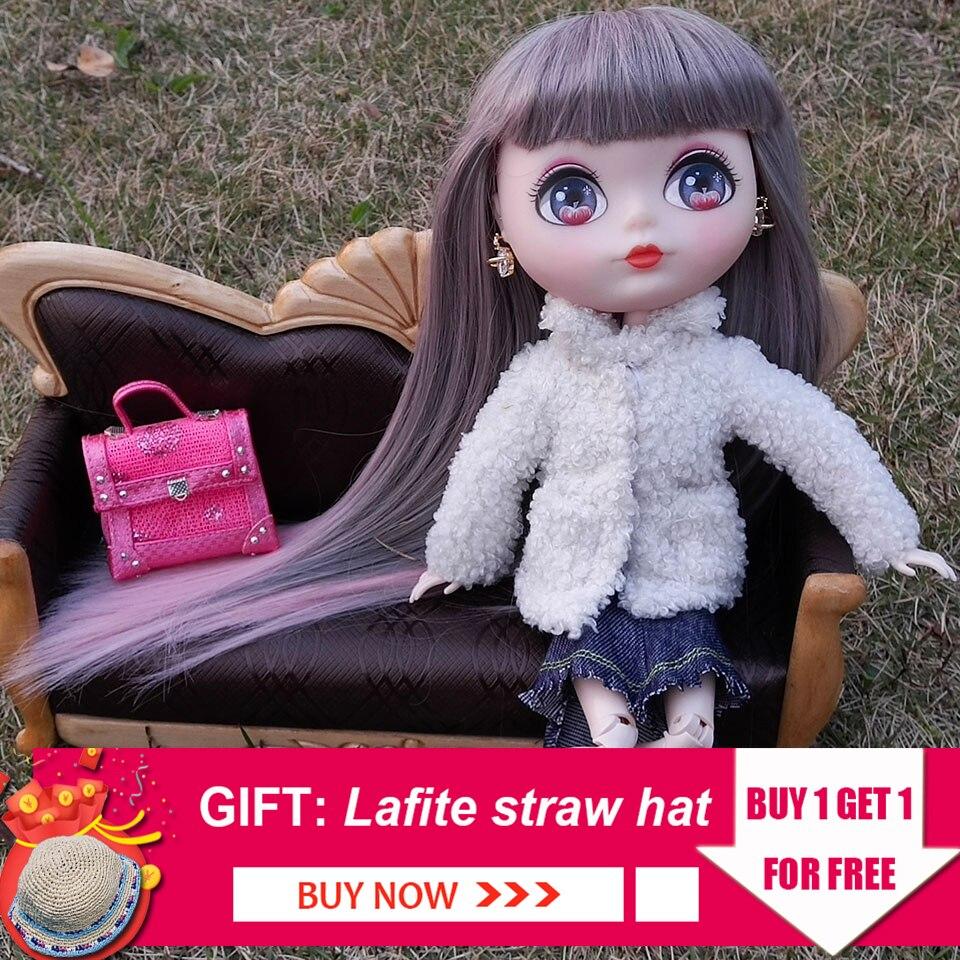 Dessin animé 1/6 poupée à rotule peinte à la main maquillage élégant 26-27 cm Bjd poupées fille modèle ensembles Collection bricolage Dressup jouets