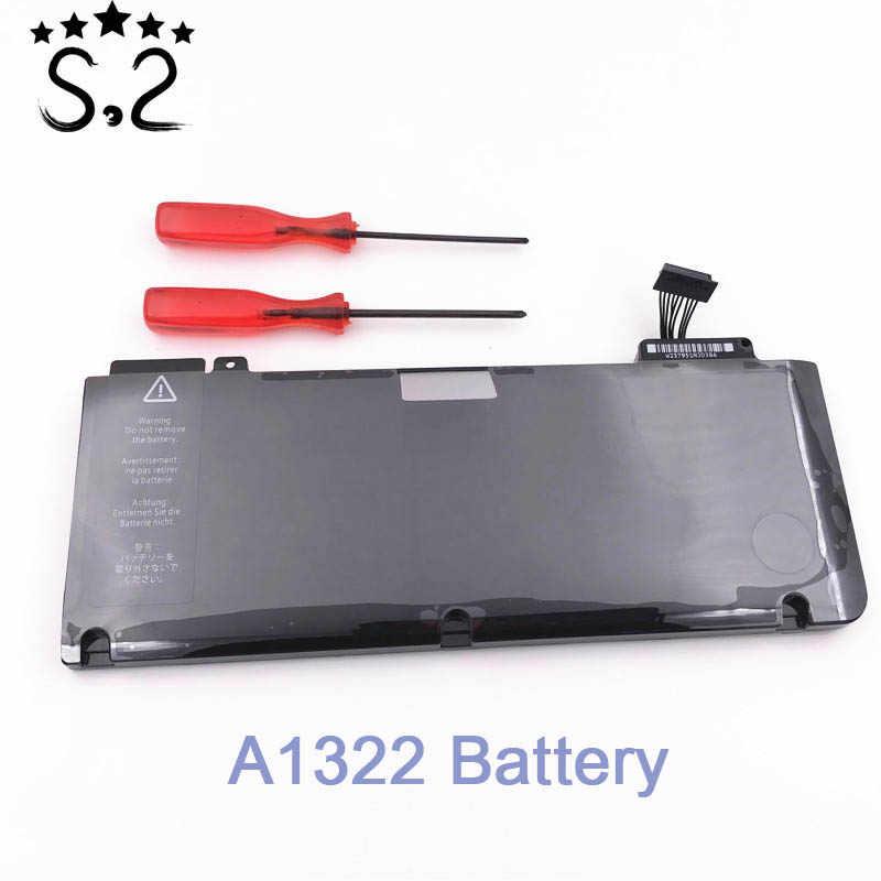 """10.95 v 63.5Wh nouvelle batterie d'ordinateur portable originale A1322 pour Macbook Pro 13 """"A1278 2010/2011/2012 avec outils"""
