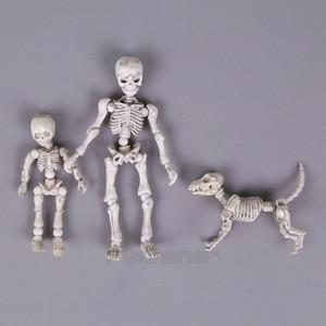 Image 1 - Leuke Mode Ontwerp Mr Botten Pose Skelet Model met Hond Tafel Bureau Boek mini PVC Figuur kinderen Speelgoed Collectible Gift