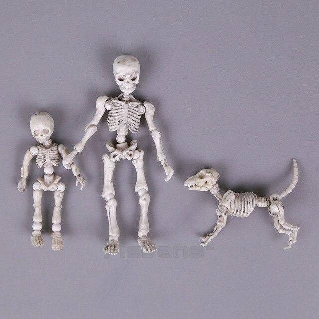 Leuke Mode Ontwerp Mr Botten Pose Skelet Model met Hond Tafel Bureau Boek mini PVC Figuur kinderen Speelgoed Collectible Gift