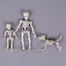 Sevimli Moda Tasarım Bay Kemikleri Poz Iskelet Modeli ile Köpek Masa Masası Kitap mini PVC Şekil çocuk Oyuncakları Koleksiyon Hediye