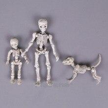 귀여운 패션 디자인 미스터 뼈 포즈 해골 모델 강아지 테이블 책상 책 미니 pvc 그림 아이 장난감 소장 선물