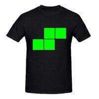RTTMALL Summer Style Printing Swag American Apparel Harajuku T Shirt For Mens Organic Cotton Tetris Green