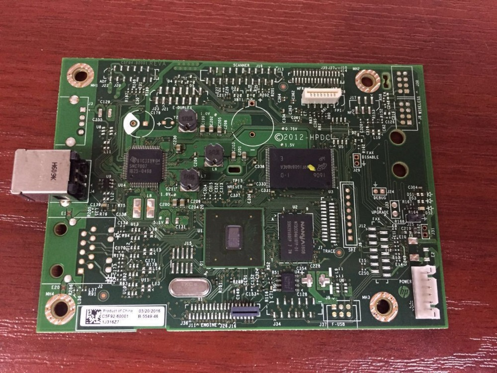 C5F93-60001 for HP LaserJet Pro M402 M403N M403DN Formatter board tested 90% new formatter board for hp lj pro m402n m402dn m403n m403dn c5f93 60001 network printer parts on sale