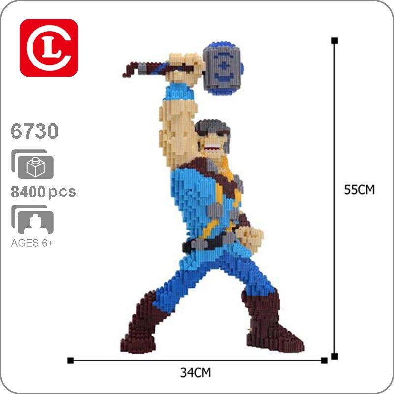 KT 6730 Marvel Avengers Thor Thunder Super Hero 3D Model DIY Micro Mini Building Blocks Bricks