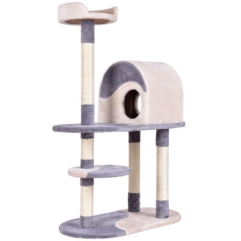 Игровая башня для кошек с когтеточками, 48 , серый и коричневый центр для кошек, прыжки, стоячая Мебель для кошек PS7014