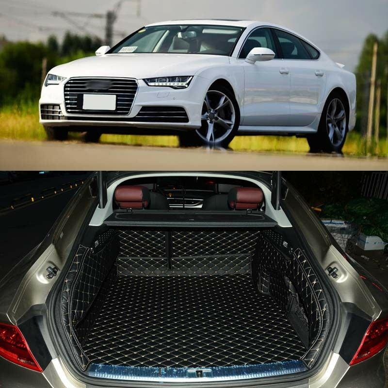 Full Covered Seat Pad Cargo Box Trunk Floor Mat Carpet Liner For Audi A7