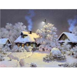 Diamond Painting Cross Stitch Landscape Full Square Diamond Embroidery Sale Winter 5D DIY Diamond Mosaic Snow YY
