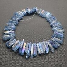 Aprox 50 unids/strand Rainbow Sapphire Crystal AB Colgante Quartzpoint Graduado Palo Joyería Gem Stone Beads Briolettes Perforados