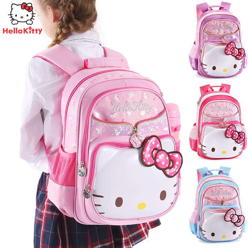 Hello kitty childrens school bag,Girls schoolbag, Primary school cartoon backpack, Cute princess rucksack  Hello kitty childrens school bag,Girls schoolbag, Primary school cartoon backpack, Cute princess rucksack