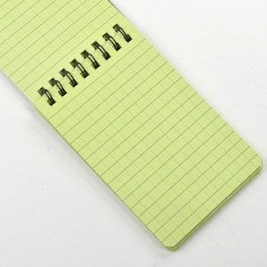 ¡Venta al por mayor! cuaderno de notas táctico verde de 10 piezas, cuaderno impermeable para todo clima, papel de escritura bajo la lluvia