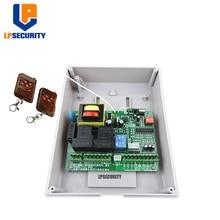 LPSECURITY AC220V совместимый материнский контроллер для открывания раздвижных ворот/двигатель для рельсовых выдвижных ворот/2 передатчика
