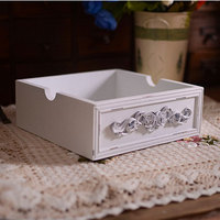 Zakka Grocery Old Wood Carve European Desktop Clutter Sorting Box Jewelry Box Wooden Boxes Crafts Free