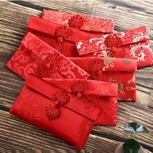 Китайский новогодний красный конверт, заполняющий деньги, Китайская традиционная хунбао, подарок, подарок на свадьбу, красный конверт, подарок на день рождения