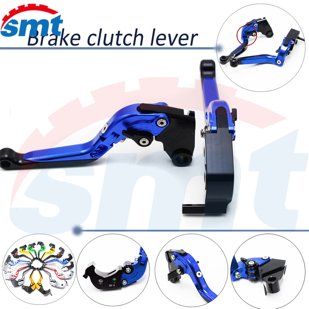 brand new 8 colors motorcycle cnc aluminum brake lever xj6 foldable extendable brake clutch levers blue color For HONDA X4 all муфта ремонтная green apple цвет белый синий 1 2