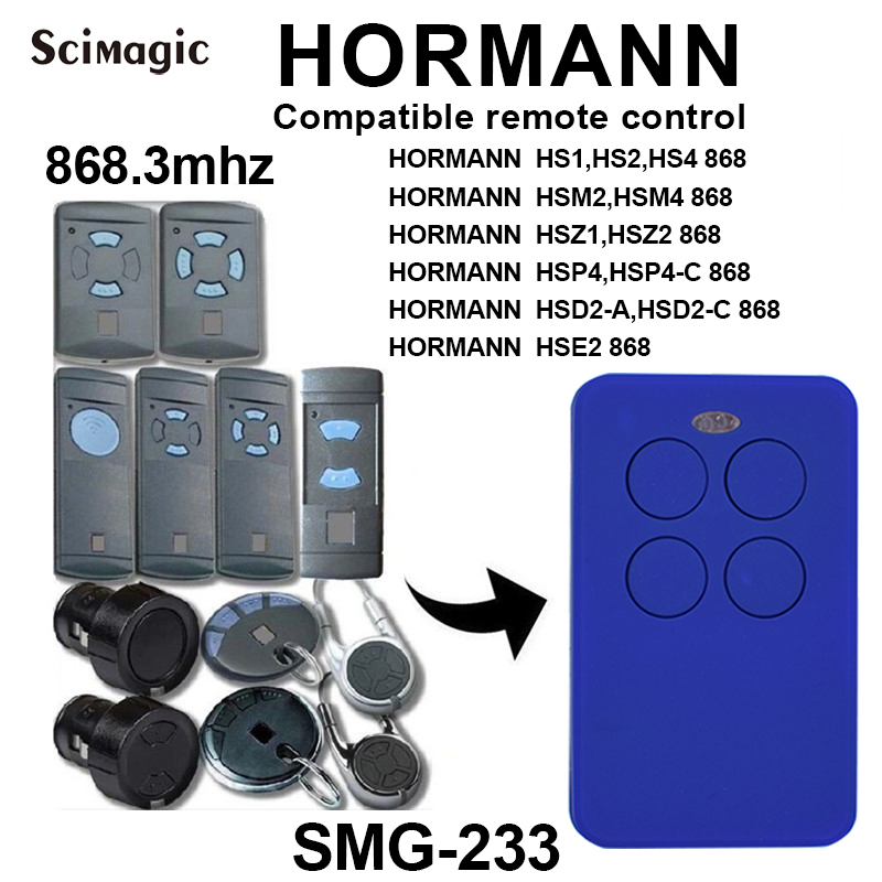 NEW 4 Channel Hormann HSM4 868 Mhz Clone Remote Control Compatible With HSM2, HSM4 868MHz Remote Hormann Handheld Transmitter