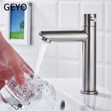 GEYO кран для ванной и кухни раковина кран с одной ручкой кухонный кран смеситель из нержавеющей стали одно мыло ручной работы готовой