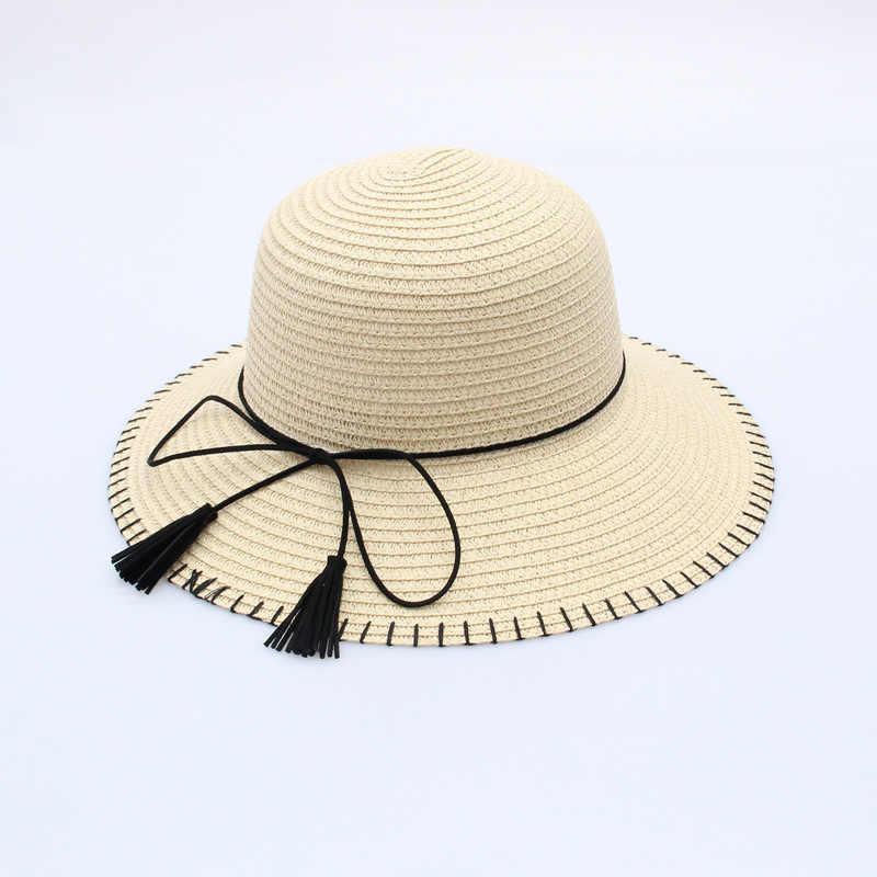 54faa8f9 ... Woman Sun panama visor Hat women You Dome Sun Hat Suture The Sun ladies  Straw hats ...