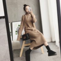 Sweater Women Pullover Turtleneck Women's Plus Size Winter Sweater For Women Warm thick casual Female Knitted dress
