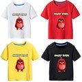 Children's T-shirt Summer Boy shirt Angry birds leisure Short sleeve boys t shirt children boy clothes