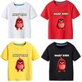 T-shirt das crianças do Verão Menino camisa Angry birds lazer meninos de manga Curta camiseta crianças roupas menino
