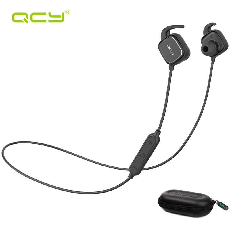 ФОТО QCY sets QY12 sports wireless earphone bluetooth headphones for iPhone Android Phone and portable storage box