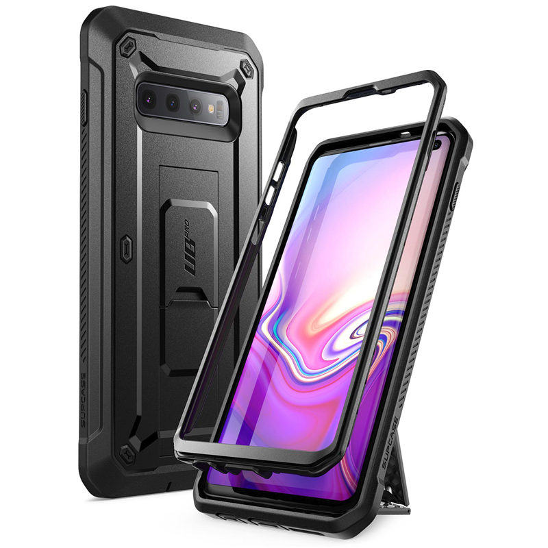 For Samsung Galaxy S10 Case 6.1 Inch UB Pro Full-Body Rugged Holster Kickstand Case WITHOUT Built-In Screen Protector