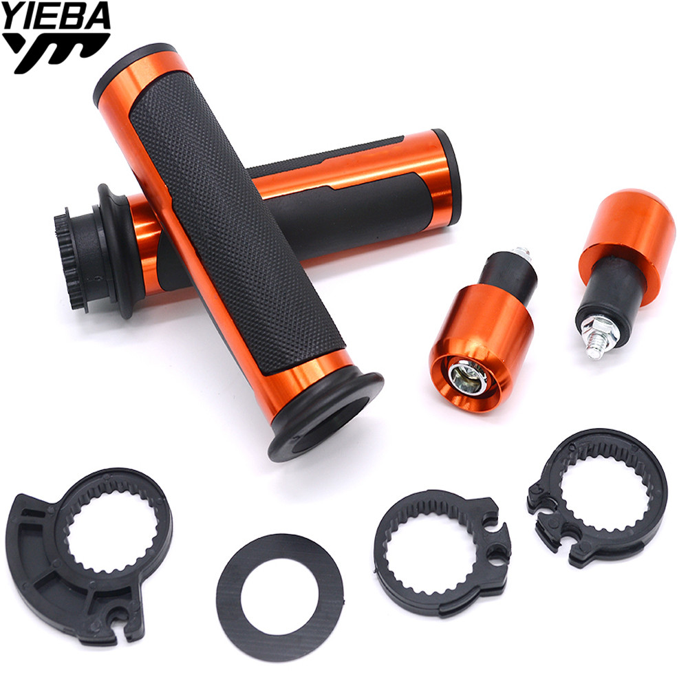7/822mm Motorcycle handlebar grips & handle bar ends hand cap FOR KTM EXC 125 200 250 300 350 400 450 500 530 DUKE 690 390 200
