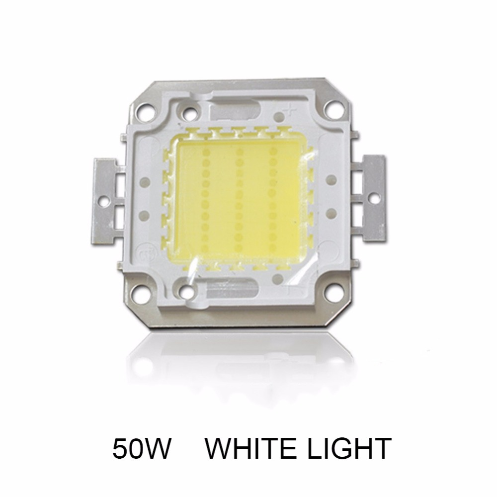 1Pc LED Light Beads Full Watt 10W/20W/30W/50W High Power LED Integrated Chip Light Source Lamp SMD Flood Light