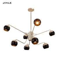 Post современная личность гостиная спальня привело двухслойная подвеска свет столовая лампы гладить художественного стекла абажур паук фор