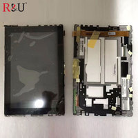 Used Parts LCD Display Touch Screen Panel Digitizer Glass Assembly With Frame Replacement For Asus Eee