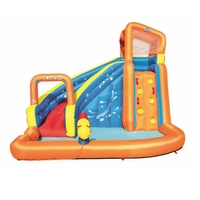 3 5 Kids Summer Water Fun Yard Garden Family Spray Water Inflatable Water Park Slide with Pool Water Cannon