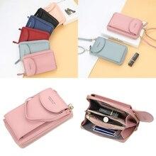 Women's Wallet Mini Sling Messenger Bag Korean Style Mobile Phone Bag cute dolphin style mobile phone wallet bag decoration deep pink white