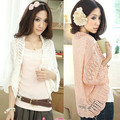 2014 summer cutout chiffon lace crochet batwing sleeve waistcoat cardigan loose sweater female thin cardigan for women F4238