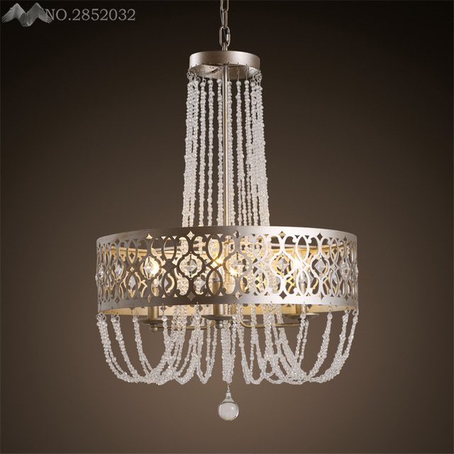 Foyer Light Switch: American Industrial Long Stair Crystal Chandelier Large