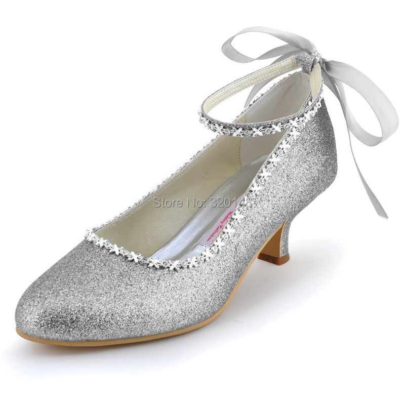 Popular Low Heel Silver Dress Shoes Women-Buy Cheap Low Heel ...
