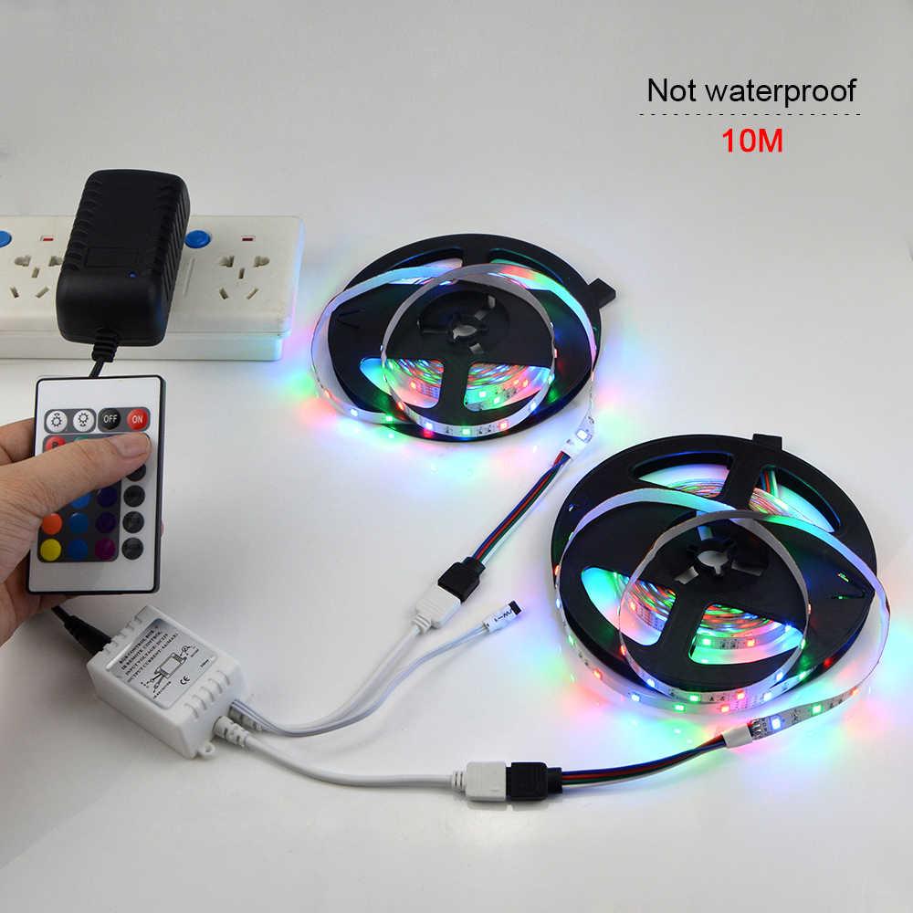Tira de luz LED RGB 12V 2835 tira de luz led de fondo cinta de diodo LED con mando a distancia fiesta de Navidad boda decoración de la lámpara